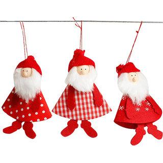 Futaba Christmas Tree Santa Claus Pendant - Pack of 3