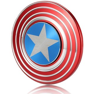 Multi Colour Fid get Smooth Custom Metal Hand Spi nner Captain America Stress Reducer Toy