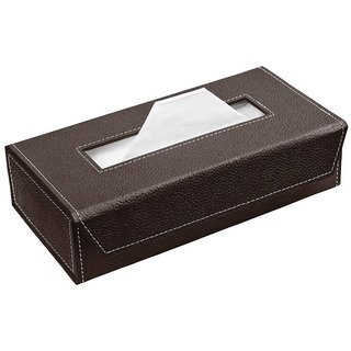 Handcrafted Eco-Friendly Napkin Box Paper Tissue Holder Box(Chocolate )