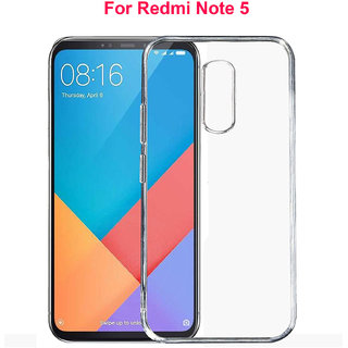 REDMI NOTE 5       Soft Silicon High Quality Ultra-thin Transparent Back Cover For Redmi Note 5  ( 2018 )