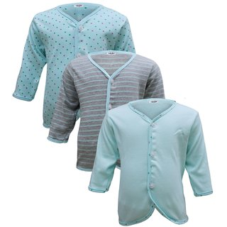 Tumble Cyan Full Sleeves Vests Pack of 3 (0 to 6 Months)