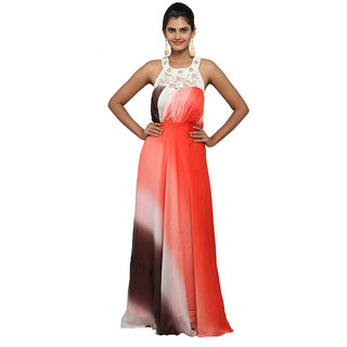 WV&U Tri color shaded Gown