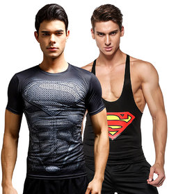 3D Compression Tank Top and DRY FIT gym T-Shirt by Treemoda Comic collection
