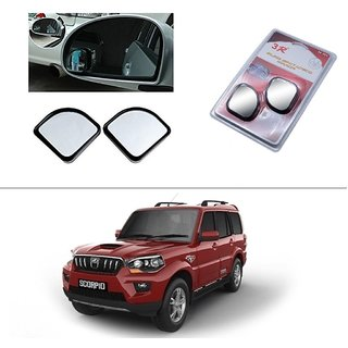 AutoStark 3R Blind Spot Mirror, Shape Semi Round, Suitable Rear View Mirrors And Side Mirrors For  Mahindra New Scorpio 2015