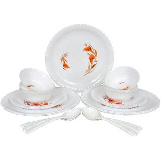 Milano Microwave Safe Unbreakable Melamine Dinner Set 24 Pcs 6 Full Plate Quater