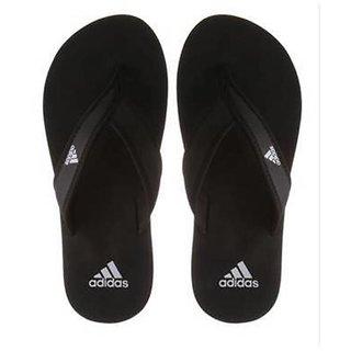 623e402e5b9c Buy Adidas Men s Black Flip Flops slippers Online - Get 63% Off