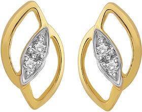 Cygnus 18k Gold GHI/SI Diamond Leaf Shaped Earring