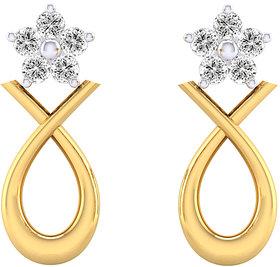 Cygnus 18k Gold GHI/SI Diamond Gend  Earring