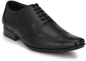 Para Voce Styles Brogue Laced Lace Up For Men  (Black)
