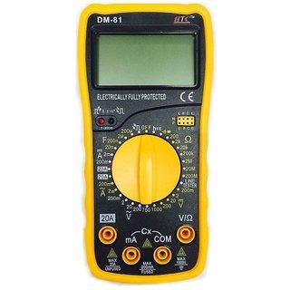 HTC DM 81 Digital Multimeter Capacitance Diode Transistor  Tester
