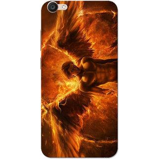 Vivo Y55 Case, Devil Fire Slim Fit Hard Case Cover/Back Cover for Vivo Y55