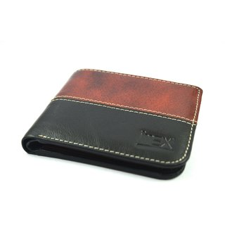 iMex Mens Combo Brown Black Genuine Leather Wallet
