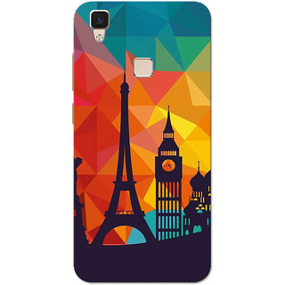 Vivo V3 Case, City Shadow Slim Fit Hard Case Cover/Back Cover for Vivo V3