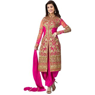 New Latest Designer Servani Pink Salwar Suit Women's Dress Material