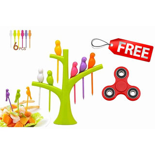Ankur Birdie Fruit Fork 6Pcs + 1 pc toy