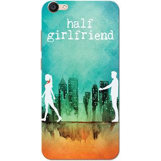 Vivo Y55 Case, Half Girlfriend Green Orange Slim Fit Hard Case Cover/Back Cover
