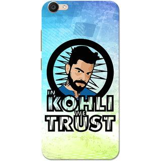 Vivo Y55 Case, In Kohli We Trust Blue Green Slim Fit Hard Case Cover/Back Cover for Vivo Y55
