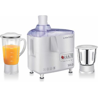 Cantae 450-Watts Juicer Mixer Grinder with 2 Jars Opel White