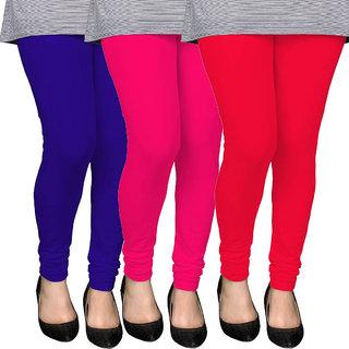 D DASS Women's Multicolor Leggings (Pack of 3)