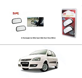 AutoStark 3R Wide Rectangle Car Blind Spot Side Rear View Mirror (Set of 2) For  Tata Indica V2 Xeta