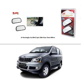 AutoStark 3R Wide Rectangle Car Blind Spot Side Rear View Mirror (Set of 2) For  Mahindra Xylo