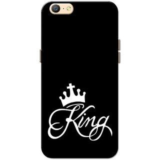 new styles 338d4 e034e Oppo A57 Case, King Black White Slim Fit Hard Case Cover/Back Cover for  Oppo A57