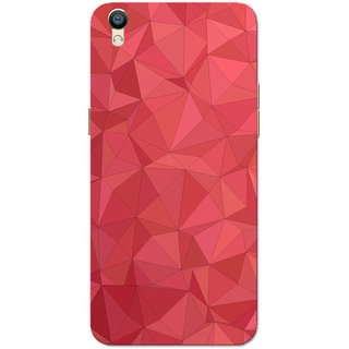 Oppo F1 Plus Case, Oppo R9 Case, Red Crystal Print Slim Fit Hard Case