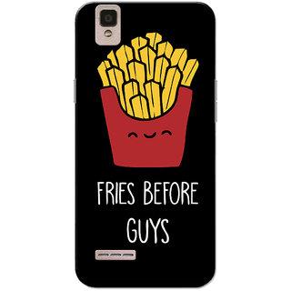 Oppo F1 Case, Fries Before Guys Black Slim Fit Hard Case Cover/Back Cover for Oppo F1