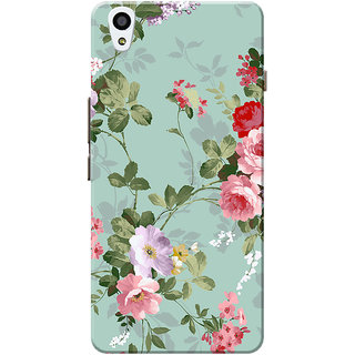 OnePlus X Case, One Plus X Case, Floral Slim Fit Hard Case Cover/Back Cover for OnePlus X