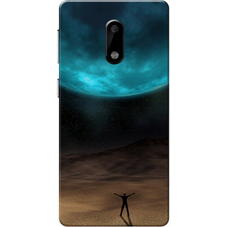 Nokia 6 Case, Eclipse Turquoise Brown Slim Fit Hard Case Cover/Back Cover for Nokia 6