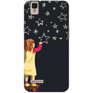 Oppo F1 Case, Twinkle Star Black Slim Fit Hard Case Cover/Back Cover for Oppo F1