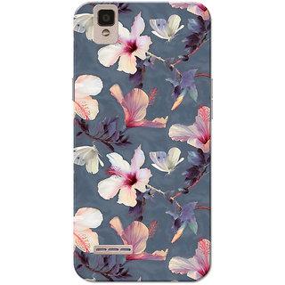 Oppo F1 Case, Flower Dark Grey Slim Fit Hard Case Cover/Back Cover for Oppo F1