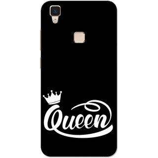 Vivo V3 Case, Queen Black White Slim Fit Hard Case Cover/Back Cover for Vivo V3