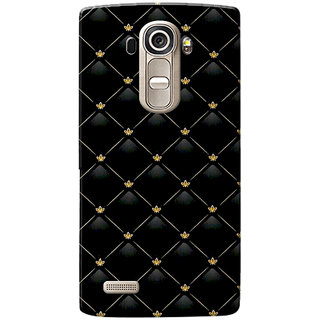 LG G4 Case, Pattern Black Slim Fit Hard Case Cover/Back Cover for LG G4