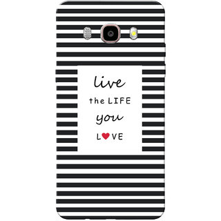 Galaxy J5 2016 Case, Galaxy J5 Duos 2016 Case, Live Life Black Slim Fit Hard Case Cover/Back Cover for Samsung Galaxy J5 Duos (2016)/J5 (2016)