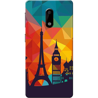 Nokia 6 Case, City Shadow Slim Fit Hard Case Cover/Back Cover for Nokia