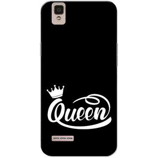Buy Oppo F1 Case, Queen Black White Slim Fit Hard Case Cover/Back Cover for Oppo F1 Online - Get 71% Off