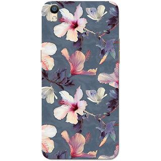 Oppo F1 Plus Case, Oppo R9 Case, Flower Dark Grey Slim Fit Hard Case Cover/Back Cover for Oppo R9/Oppo F1 Plus