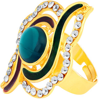 Gold Plated Alloy Ring by ShoStopper -SJ8001R