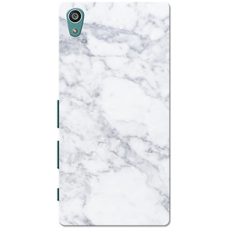 Xperia Z5 Case, Xperia Z5 Dual Case, Marble White Slim Fit Hard Case Cover/Back Cover for Sony Xperia Z5 Dual/Z5