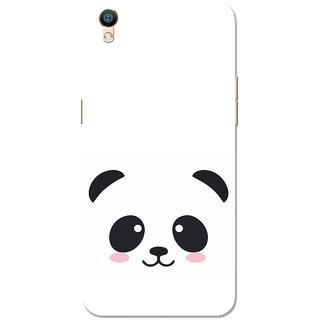 Oppo F1 Plus Case, Oppo R9 Case, Black Cute Panda White Slim Fit Hard