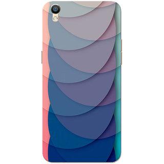 Oppo F1 Plus Case, Oppo R9 Case, Half Circles Navy Slim Fit Hard Case Cover/Back Cover for Oppo R9/Oppo F1 Plus