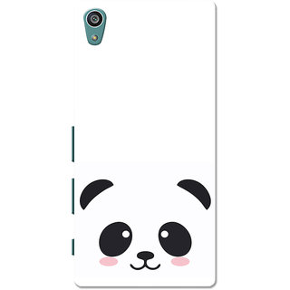 Xperia Z5 Case, Xperia Z5 Dual Case, Black Cute Panda White Slim Fit Hard Case Cover/Back Cover for Sony Xperia Z5 Dual/Z5