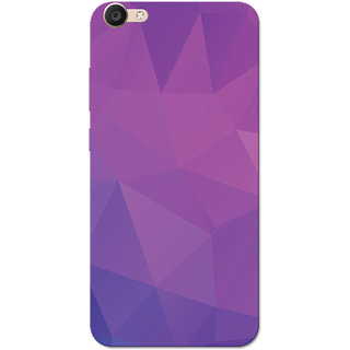 timeless design 3175f 52c06 Vivo Y55 Case, Purple Shade Crystal Print Slim Fit Hard Case Cover/Back  Cover for Vivo Y55