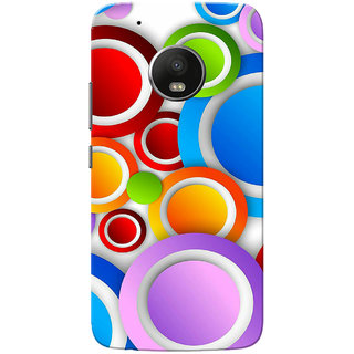 Moto G5 Plus Case, Multi Colour Circles White Slim Fit Hard Case Cover/Back Cover for Motorola Moto G5 Plus