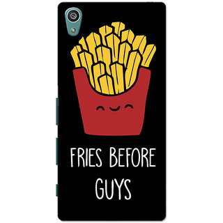 Xperia Z5 Case, Xperia Z5 Dual Case, Fries Before Guys Black Slim Fit Hard Case Cover/Back Cover for Sony Xperia Z5 Dual/Z5