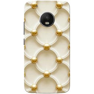 Moto G5 Plus Case, Golden White Pattern Slim Fit Hard Case Cover/Back Cover for Motorola Moto G5 Plus