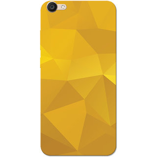 Vivo Y55 Case, Yellow Shade Crystal Print Slim Fit Hard Case Cover/Back Cover for Vivo Y55
