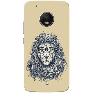 Moto G5 Plus Case, Lion With Specks Ochre Yellow Slim Fit Hard Case Cover/Back Cover for Motorola Moto G5 Plus
