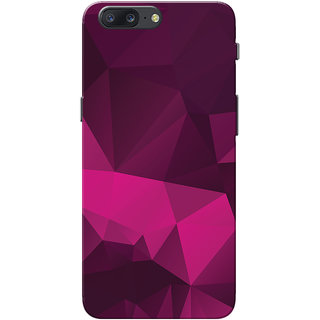 OnePlus 5 Case, One Plus 5 Case, Magenta Black Crystal Print Slim Fit Hard Case Cover/Back Cover for OnePlus 5